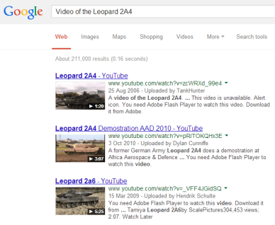 Video of the Leopard 2A4 Google Search2 The Simplicity of Video SEO