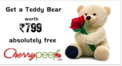 Invite just 10 friends and Get free teddybear worth rs 799 @ Cherrypeep