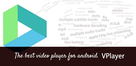 vplayer video player for andorid smartphone