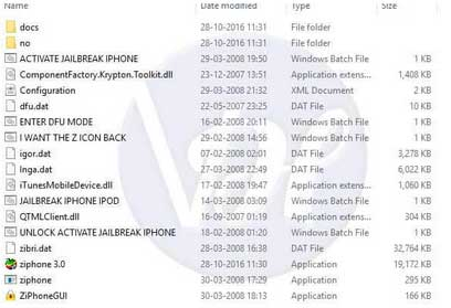 ziphone-extracted folder view