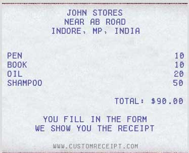 custom receipt maker