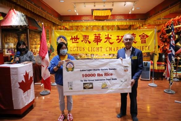 Rice Donation to GVFB