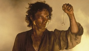 frodo holding one ring lord of the rings image mount doom