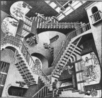 Understanding Jareth the Goblin King: How he can help us succeed in life - (Part 2) http://vlnresearch.com/understanding-jareth-the-goblin-king-part-2 mc escher stairs labyrinth room