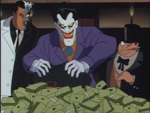 Villains vs Antagonists: A field guide - http://vlnresearch.com/villains-vs-antagonists - Twoface Joker Penguin - Batman animated series image