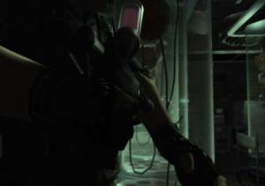 Wesker injecting virus Resident Evil