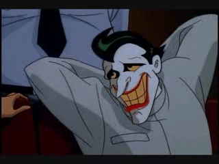 Joker Batman Animated Series Arkham grin