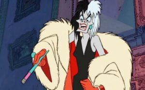 Cruella De Vil 101 Dalmatians mad smoker