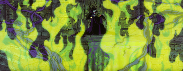 Sleeping Beauty - Maleficent - fire throne