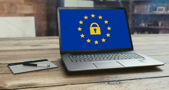A laptop with GDPR icon