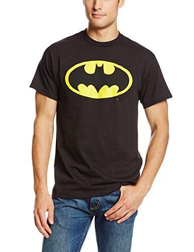 DC Comics Men's Batman Basic Logo T-Shirt, Black, Large