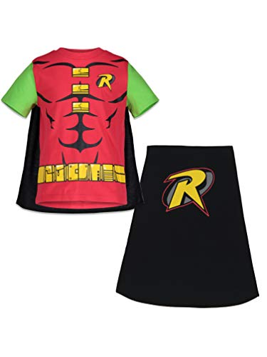 DC Comics Robin Toddler Boys T-Shirt with Cape (Red 3T)