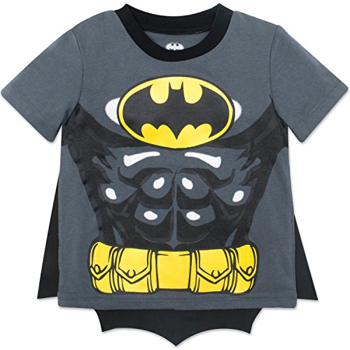 Warner Bros. Batman Toddler Boys' Costume T-Shirt & Cape Set (Gray, 6)