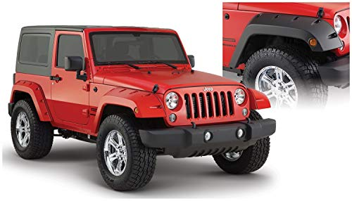 Bushwacker 10077-02 Pocket Style Front Fender Flare for Jeep Wrangler - Pair