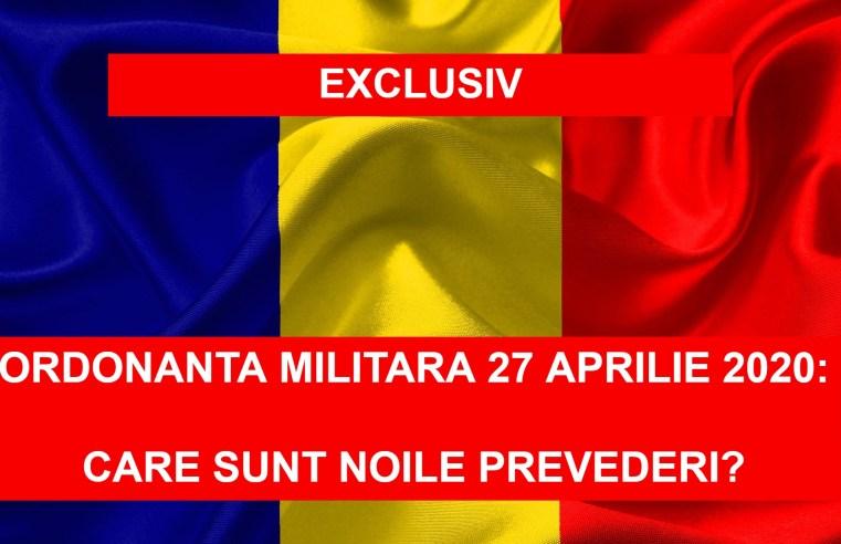 Ordonanta militara de urgenta de pe 27 aprilie 2020