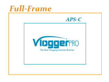 comparison between aps-c and full-frame sensor sizes - Vlogger Pro