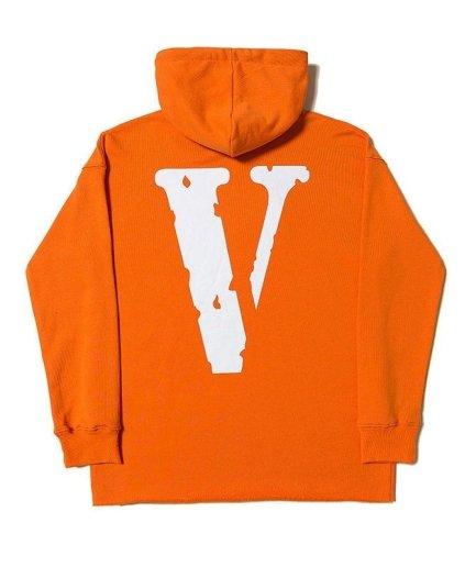 Vlone Friends Orange Hoodies