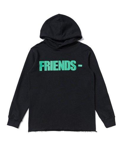 VLONE Hip Hop Black Friend Classic Hoodie