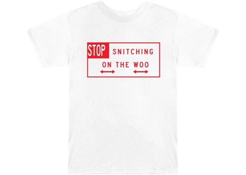 Pop Smoke x Vlone Stop Snitching T-shirt