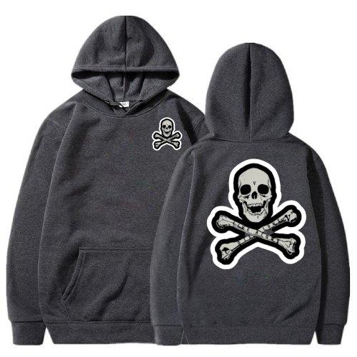 Vlone Skull And Bones Light Black Hoodie
