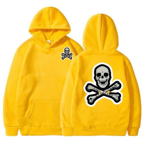 Vlone Skull And Bones Yellow Hoodie