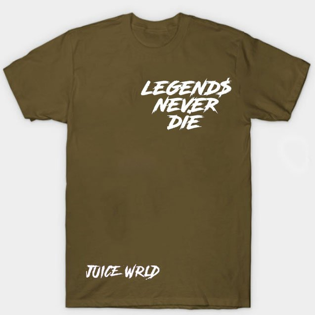 Jucie Wrld x Vlone Legends Never Die Brown Tee