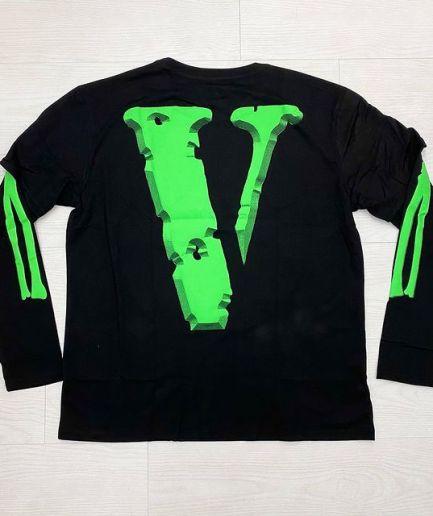 NBA Young Boy X Vlone Cross Roads Long Sleeves Black Shirt