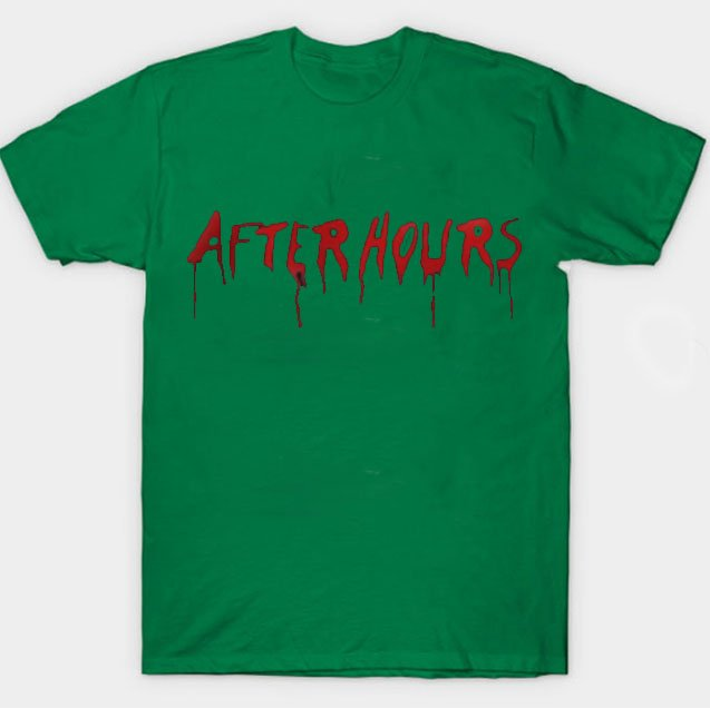 Vlone x The Weeknd After Hours Acid Drip Green Tee