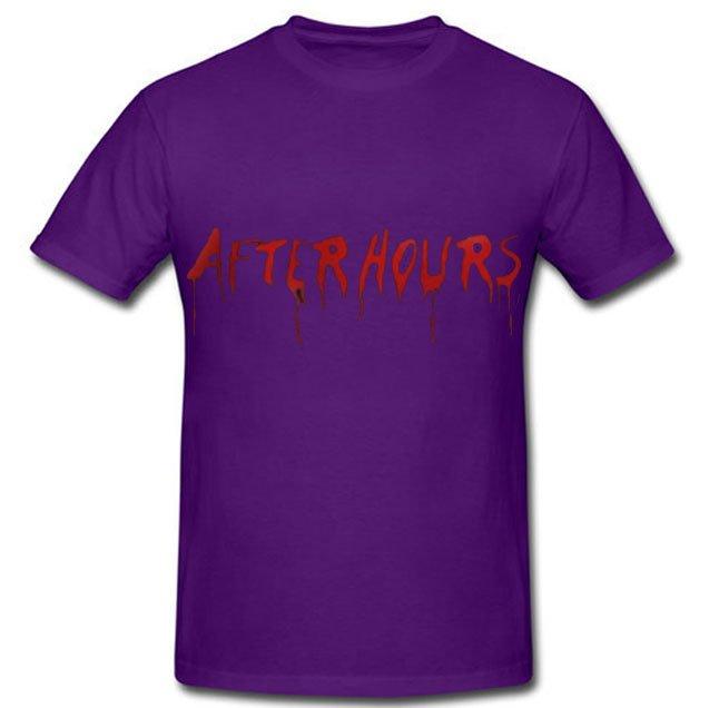 Vlone x The Weeknd After Hours Acid Drip Purple Tee