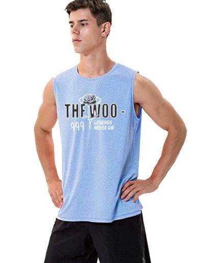 Pop Smoke The Woo x pop smoke sleeveless sky blue Shirt