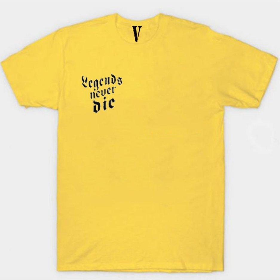 Juice Wrld x Vlone Legends Never Die Yellow T-Shirt