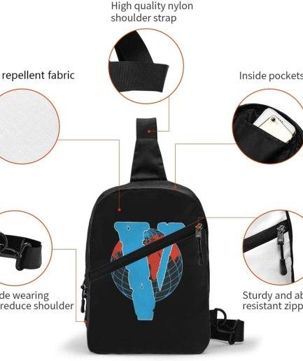 V-Lone Red World Designed Sports Fitness Black Backpack