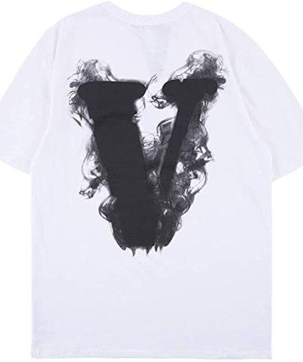 Vlone Arnodefrance V Letter Print White T-Shirt