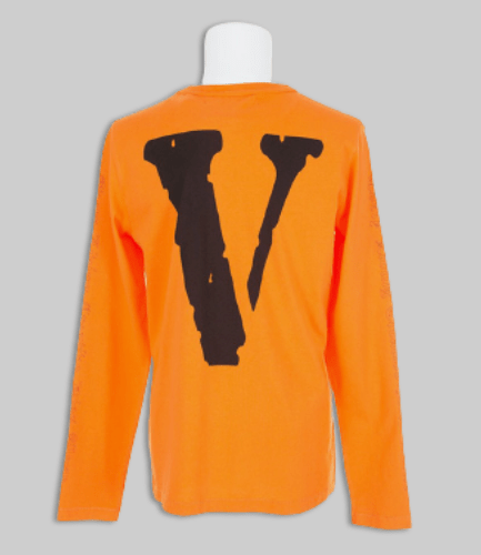OFF-WHITE X VLONE Printed V Longsleeve-Orange-Back
