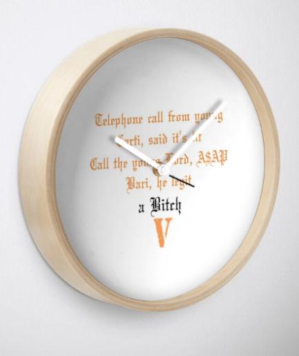 A$AP Bari a bitch Clock