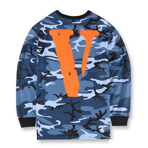 Vlone OG VLONE FRIENDS - Blue Camo Long Sleeve Shirt