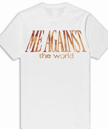 Vlone x Tupac ME AGAINST the world White T-Shirt