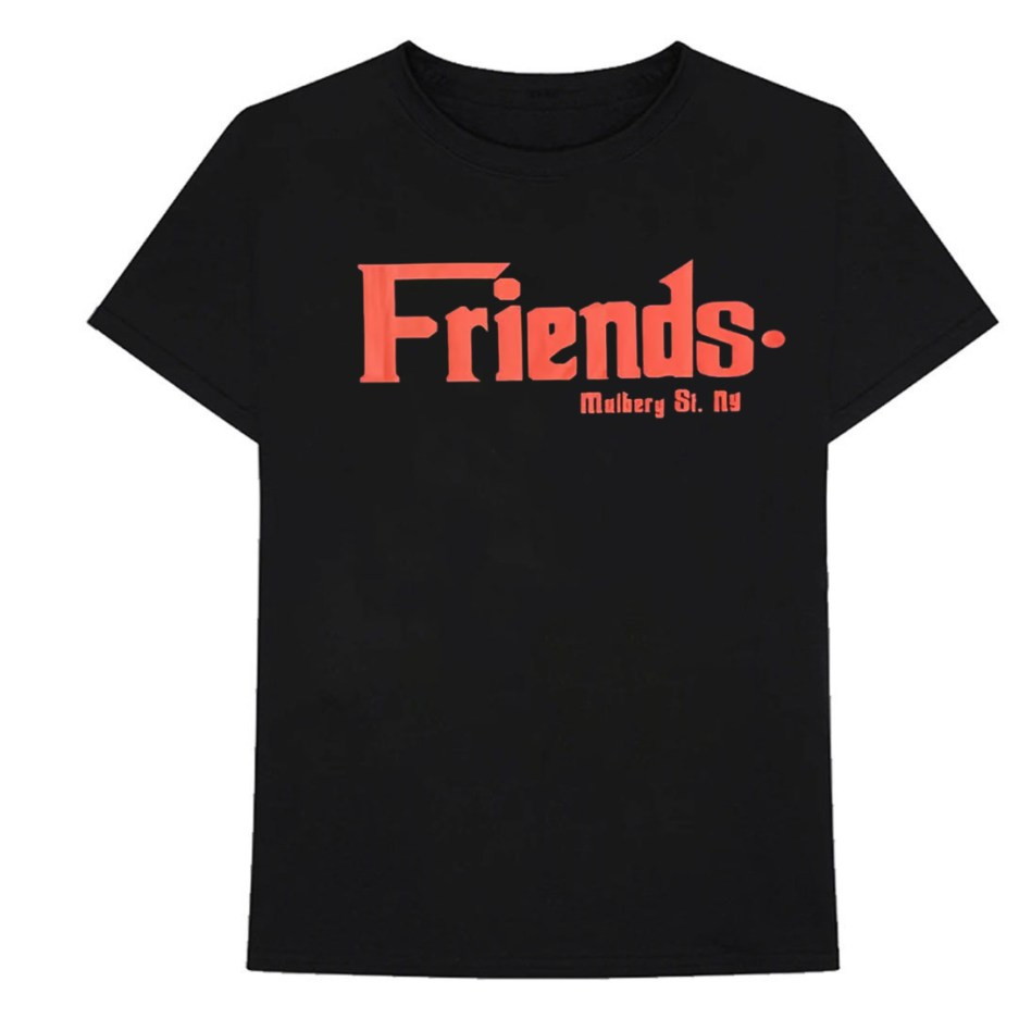 Vlone Friends Godfather Mulberry St Red Black Tee - front