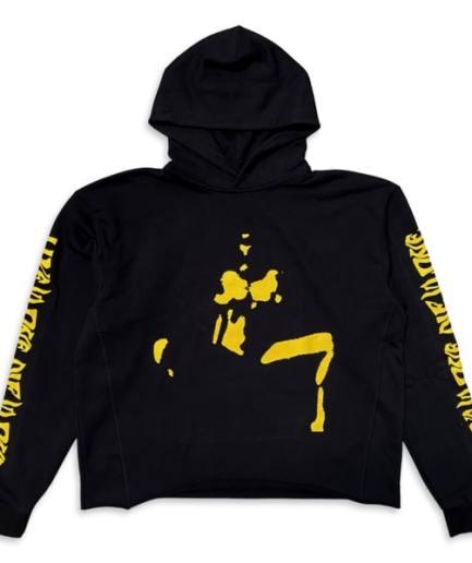 VLONE Nude Girl Hoodie Black Yellow