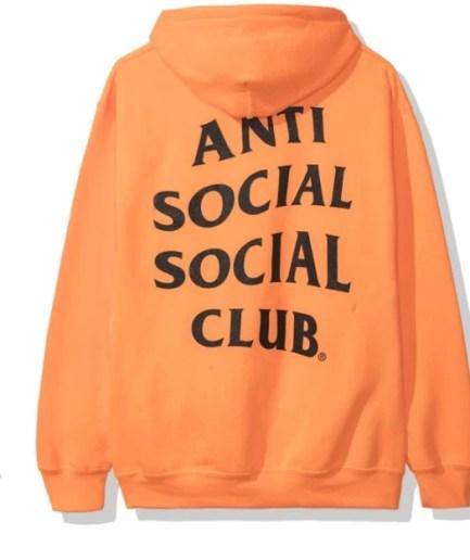 Anti Social Social Club Awi Hoodie – Orange-Back