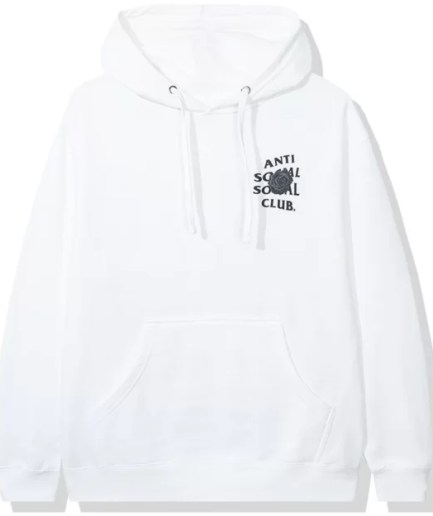 Anti Social Social Club Bat Emoji Hoodie – White