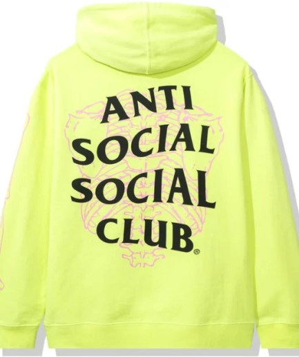 Anti Social Social Club Car Underwater Hoodie-Back
