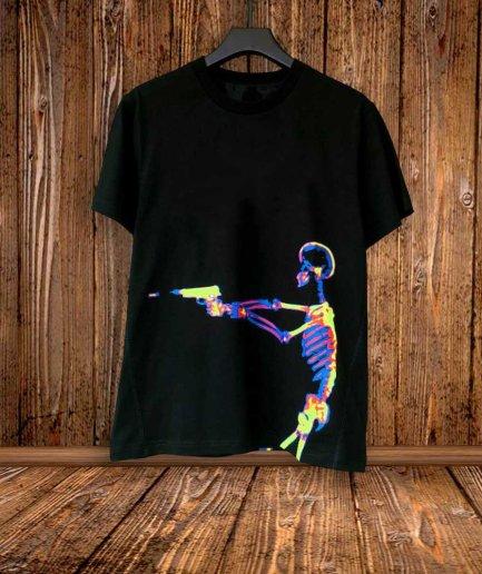 Vlone X Ray Printed Black T-Shirts
