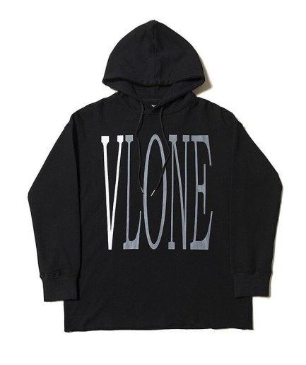 Vlone Staple Hip Hop Black Hoodies