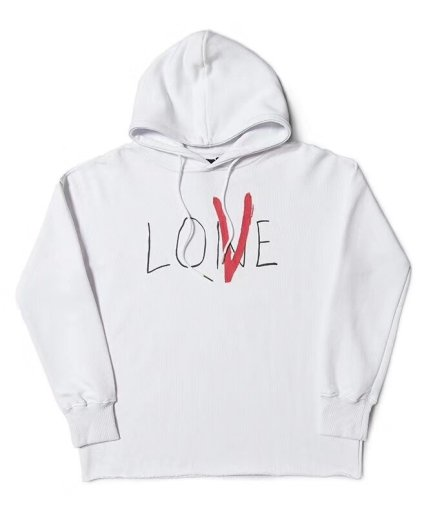 Vlone Staple Love White Hoodie