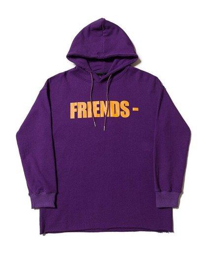 Vlone Friends Hoodie Orange\Purple-Front