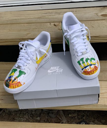 Nike Air Force x Vlone Fire White Sneakers
