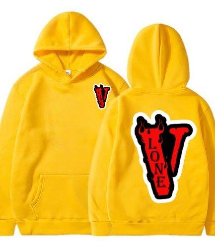 Vlone Staple Fashion yellow Hoodie