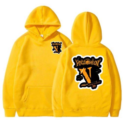 Vlone Halloween Yellow Hoodie
