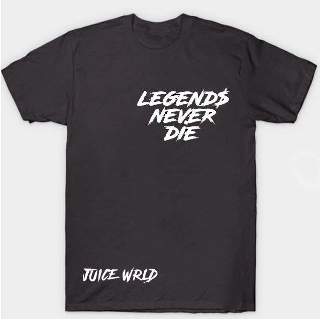 Jucie Wrld x Vlone Legends Never Die Black Tee